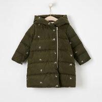 【2件2.5折到手价:159】moomoo童装女童羽绒服中长款新款冬季绣花洋气中大儿童外套