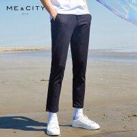 【1件3折到手价:89.97】MECITY男装时尚纯色修身休闲长裤韩版潮流