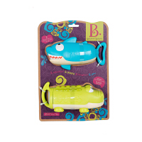 美国B.Toys儿童玩具水枪夏天戏水漂流女孩男孩抽拉式压力水枪玩具2个装
