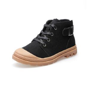 比比我童鞋儿童磨砂皮运动鞋女童加绒休闲鞋男童韩版秋冬季2017新款