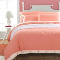 纯色四件套纯棉床上用品素色床品被套床单1.8m床