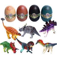 拼装大号恐龙蛋早教积木仿真动物霸王龙模型小孩益智拼插恐龙玩具