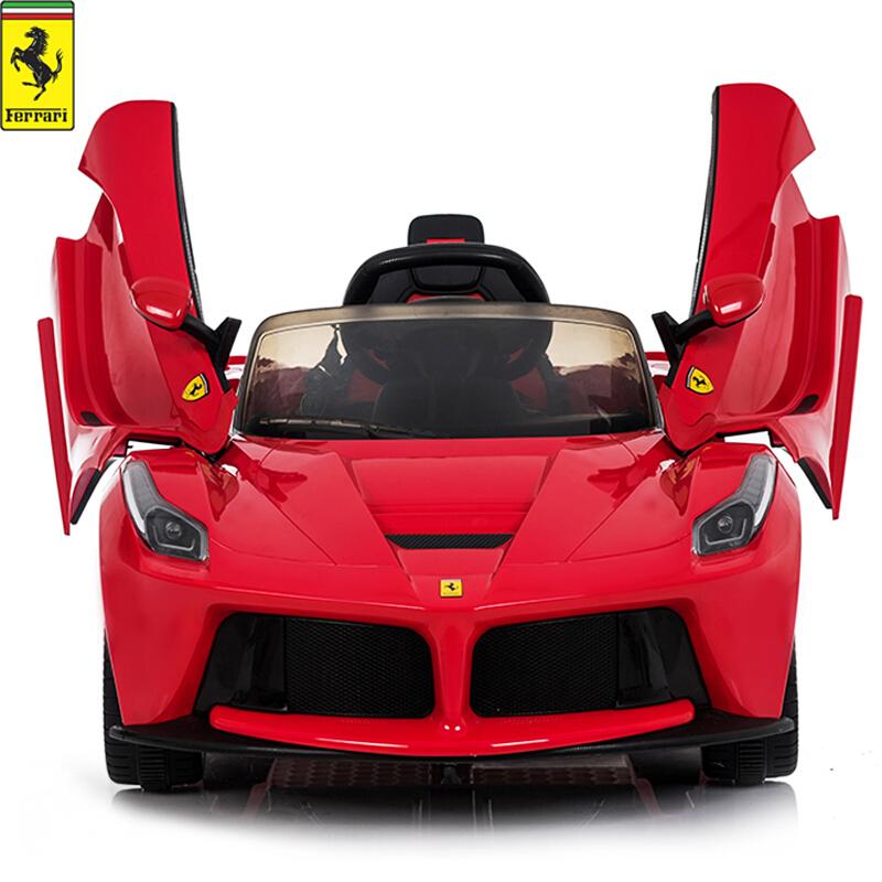 法拉利儿童车电动四轮带遥控男女宝宝小孩玩具汽车可坐人充电跑车