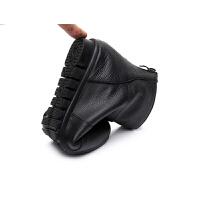 2018秋冬新款平跟低跟真皮圆头平底短靴女靴休闲大码女鞋冬秋单靴