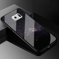 三星s6手机壳女玻璃galaxy s6创意个性保护外套sm-g9200直屏硅胶韩国可爱盖乐世S6防摔