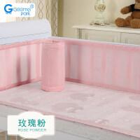婴儿床围套件四季通用可拆洗宝宝新生儿床围夏季透气a366 通用尺寸 各尺寸婴儿床可用
