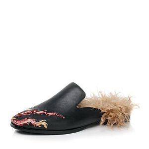 Belle/百丽2017秋季大英联名款专柜同款时尚大方小牛皮后空穆勒鞋BRN30CH7
