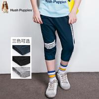 【3折价:89.7元】暇步士童装夏季男童纯棉时尚潮酷针织七分裤HMX70082