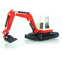 华一合金工程车轻型挖掘机挖土机汽车玩具 儿童玩具1:60仿真模型