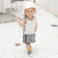 婴幼儿夏季纯棉套装1-3岁男宝宝套装6一个月新生儿童两件套