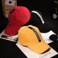 新款圆环灯芯绒棒球帽子男女 韩版潮嘻哈太阳帽学生字母刺绣鸭舌帽