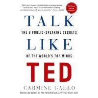 【现货】英文原版 像TED一样演讲:世界*人物的9个公开演讲秘诀 平装 Talk Like TED 语言艺术