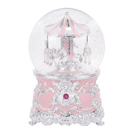 音乐盒八音盒天空之城水晶球旋转木马女生生日礼物儿童雪花玩具