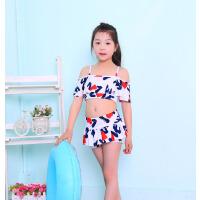 新款韩版吊带儿童泳衣分体裙式迷彩温泉女童泳衣