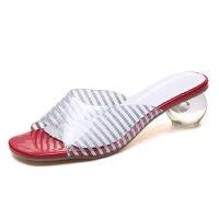 WARORWAR 2019新品YN13-C9922夏季欧美水晶跟女鞋潮流时尚潮鞋百搭潮牌凉鞋女