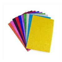 A4 A5珠光海�d� 手工材料 金粉彩色泡沫� 亮光海�d�手工纸 压花器背景纸
