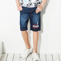 【3件3折:119.7元】暇步士童装男童短裤新品大中童5分裤儿童夏装水洗牛仔短裤