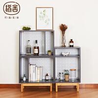 当当优品 橙舍现代简约书柜自由组合式储物柜不带脚落地柜子简易书柜多层置物架