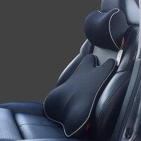 汽车腰靠护腰靠垫记忆棉车用座椅靠背垫腰部支撑腰枕四季透气腰垫