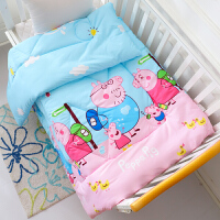 儿童被子秋冬被幼儿园春秋丝棉被1.2m米小孩宝宝午睡小被子可机洗