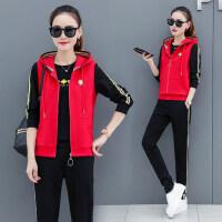 韩版时尚休闲服显瘦马甲三件套潮大码女士运动服