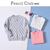 【3折价:54】铅笔俱乐部儿童装女童针织衫长袖2019秋装新款毛衫打底套头小童毛衣