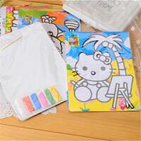 儿童沙画套装创意刮画手工制作儿童画DIY砂画材料玩具绘画彩沙