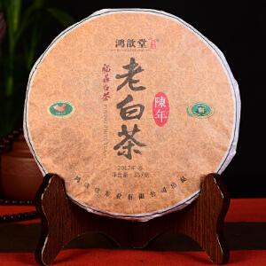 【整件42片一起拍】2011年原料 鸿歆堂 福鼎白茶 陈年老白茶 357克/片