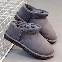 秋冬季2018新款绒面磨砂雪地靴女矮短靴平底加厚加绒棉鞋防滑短筒