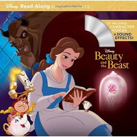 现货英文原版 美女与野兽 Beauty and the Beast Read-Along Storybook 迪士尼经典
