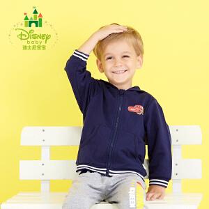 迪士尼Disney童装萌帅小汽车休闲前开带帽外套173S953