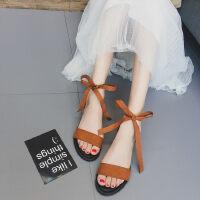 WARORWAR新品YN31-A06夏季欧美平底舒适系带女凉鞋
