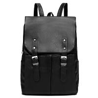 新款时尚休闲双肩包男背包软皮质时尚潮流书包学生包旅行包皮包