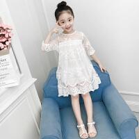 女童连衣裙夏装新款洋气童装韩版纱裙儿童裙子夏季蕾丝公主裙