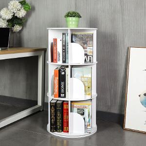 书架 创意圆形360度旋转书架现代简约拆装书柜置物架儿童简易学生落地家具用品