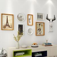 物语时尚家居馆客厅装饰画现代简约沙发背景墙北欧挂画壁画 一整套组合 占墙面积约159*54cm 简约装饰画
