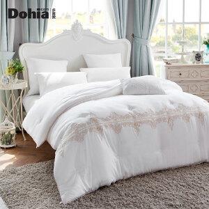 多喜爱新品保暖被芯床上用品冬被被子塞纳流光丝柔绣花被