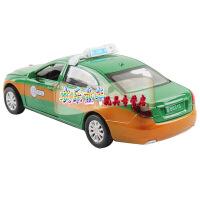 CAIPO儿童玩具 1:32合金汽车模型红旗H7出租声光回力北京出租车 男孩玩具 彩珀越野公安警车 孩玩具 彩珀蓝色现代出租车