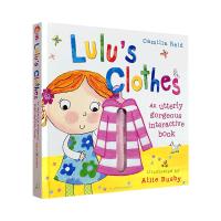 儿童英文原版绘本 露露的衣服 精装触摸操作机关书 Lulu's Clothes 我爱露露系列 低幼英语启蒙趣味认知翻翻