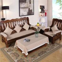 实木沙发垫春秋长椅垫木质夏季木椅凉席凉垫三人木头红木坐垫