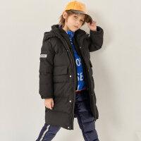 【1件5折价:449.5,可叠券】moomoo童装男童羽绒服冬新款中大童可拆卸内胆羽绒服两件套