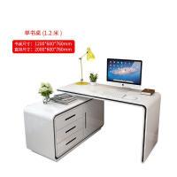 家用台式旋转书桌 现代简约卧室时尚转角书柜书架折叠电脑桌组合3un