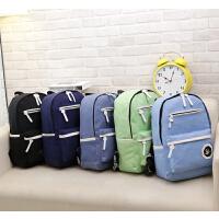 帆布小手双肩包背包电脑包女韩版潮休闲旅行包中学生书包