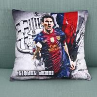 巴萨抱枕巴塞罗那梅西内马尔周边球迷用品纪念品世界�装饰抱枕