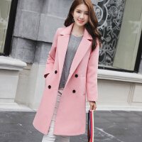 2018秋冬韩版女装大码中长款呢子大衣毛呢外套女修身显瘦