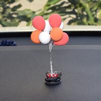 创意可爱彩色气球汽车摆件小清新车载内仪表台饰品迷你小气球摆件 气球摆件 3白3红2橙