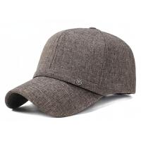 2018新款中老年男士帽子春秋天中年爸爸布帽子秋季老人棒球帽鸭舌帽遮阳帽 可调节