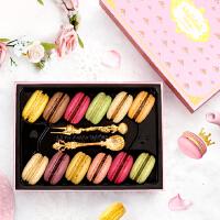 玛呖德法式甜点正宗马卡龙甜品手工西式糕点点心12枚休闲零食品