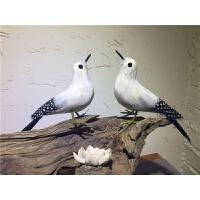 仿真羽毛小鸟摆件羽毛鹦鹉摆件鸟笼装饰假鸟摄影装饰小鸟园林摆件