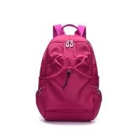 户外双肩包 女轻便登山旅行包出游休闲运动小背包女 玫红色 实色略深